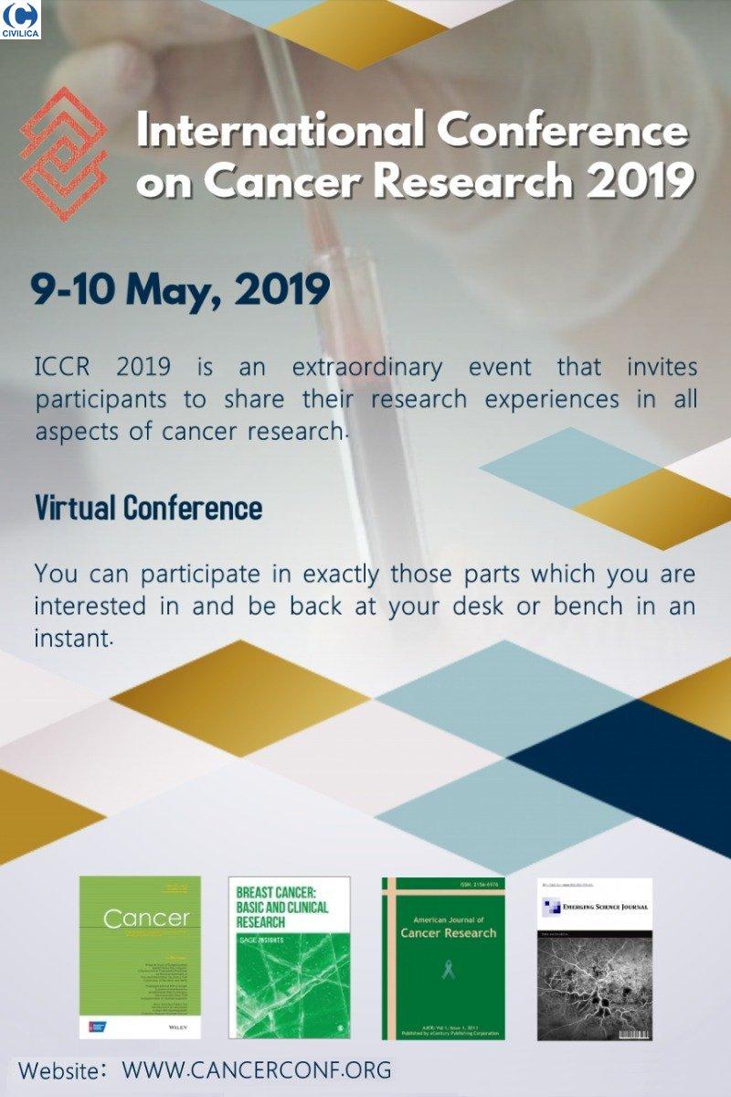 همایش بین المللی تحقیقات سرطان 2019