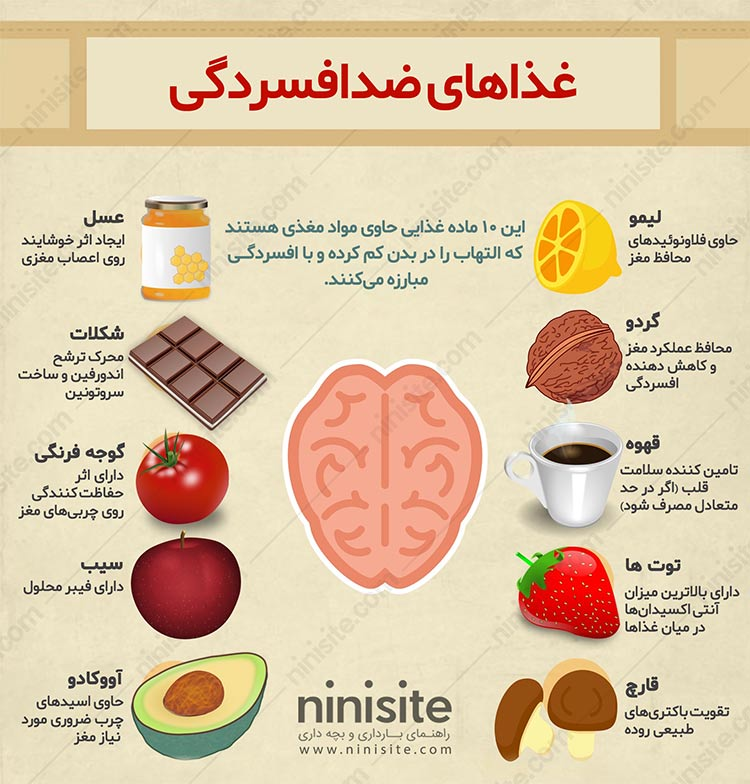 غذاهای ضدافسردگی