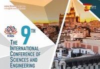 نهمین کنفرانس بین المللی علوم و مهندسی  22 مهرماه 1397  مادرید - اسپانیا